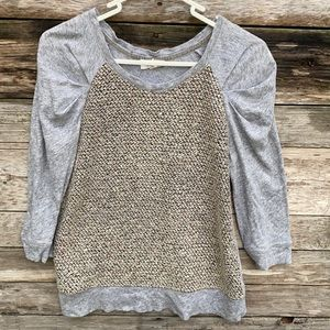 Anthropologie   Meadow Rue Ruched Sleeve Top XS